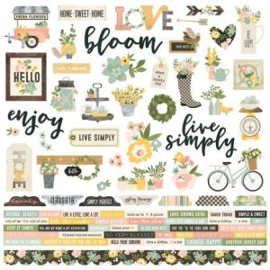 SS - Combo Cardstock Stickers - Spring Farmhouse