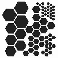 TCW - Templates 15 x 15, Hexagons