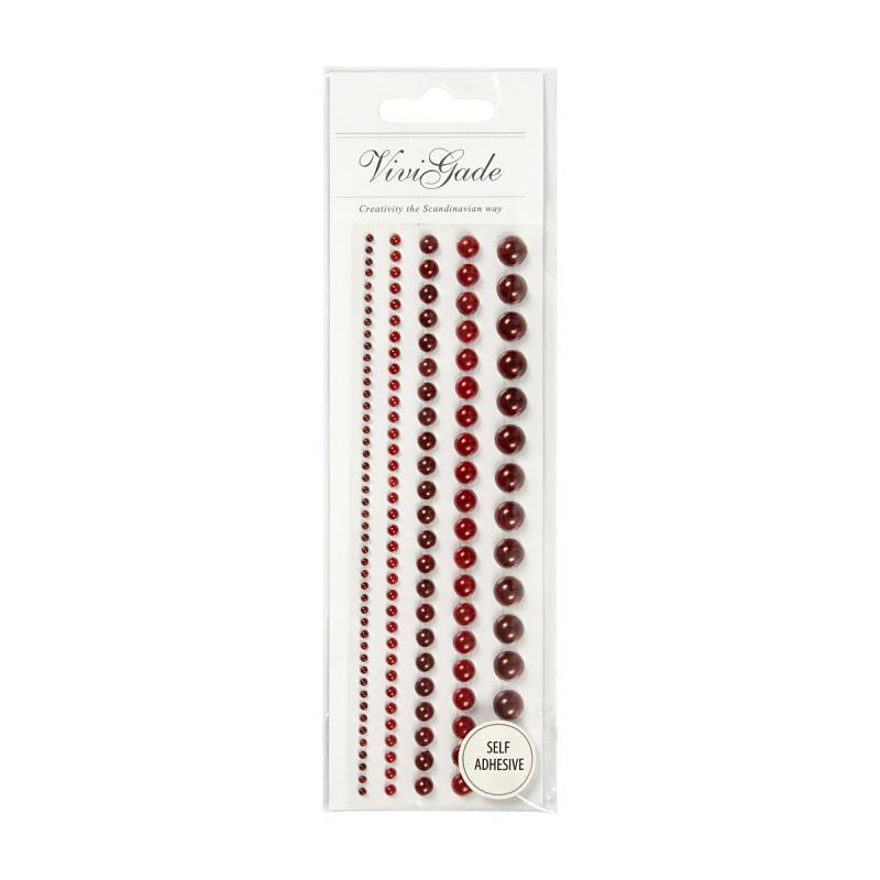 VG - Halv pärlor röd