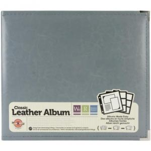 WeR - Leather D-Ring Album 12X12 - Charcoal