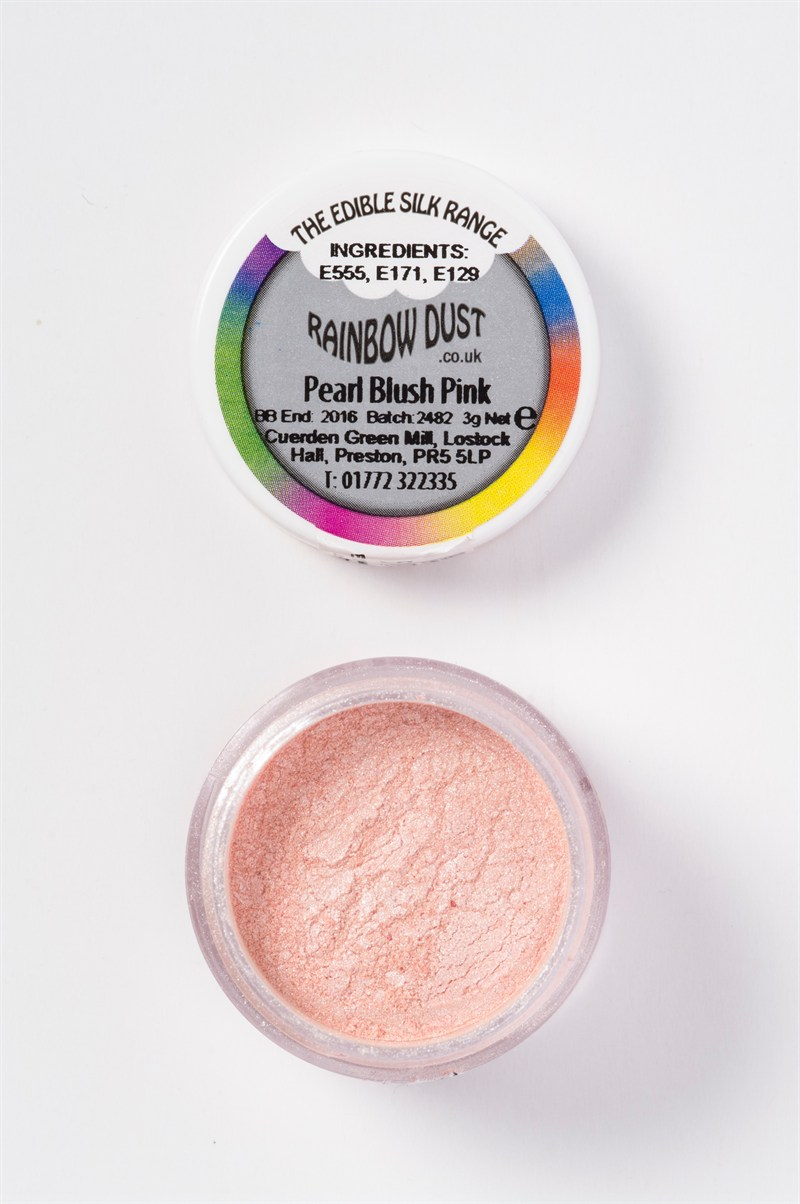 Rainbow Dust Edible Silk Range - Pearl Blush Pink