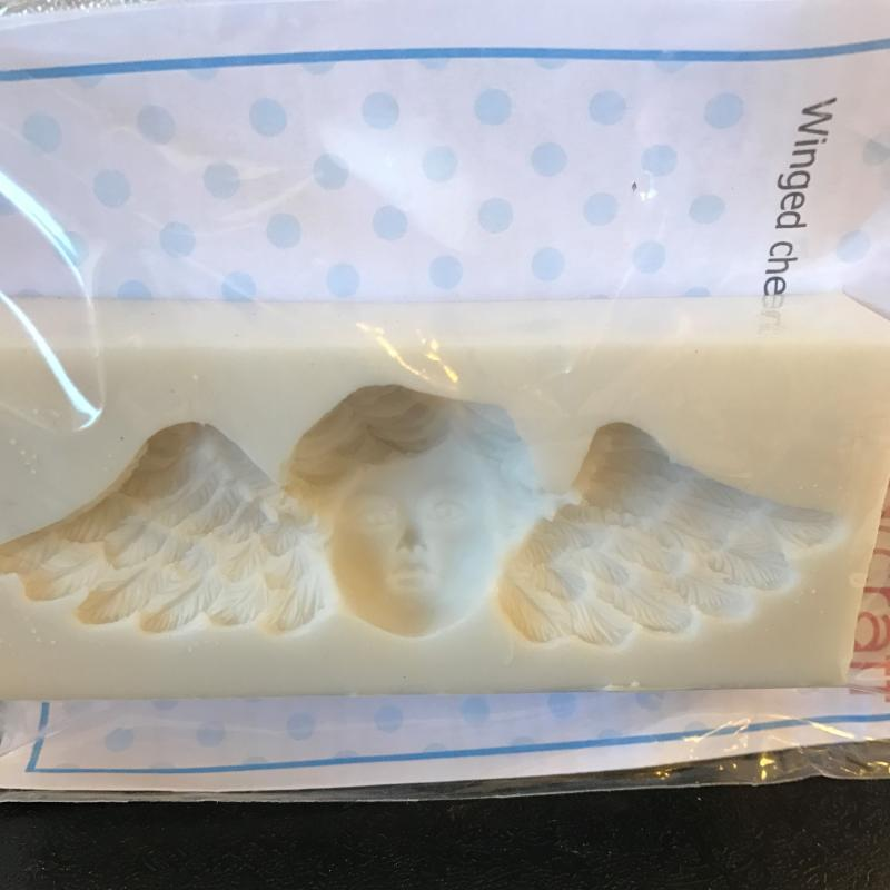 Silikonmould winged cherub