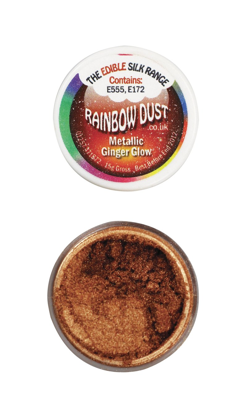 Rainbow Dust Edible Silk Range - Metallic Ginger Glow  3g