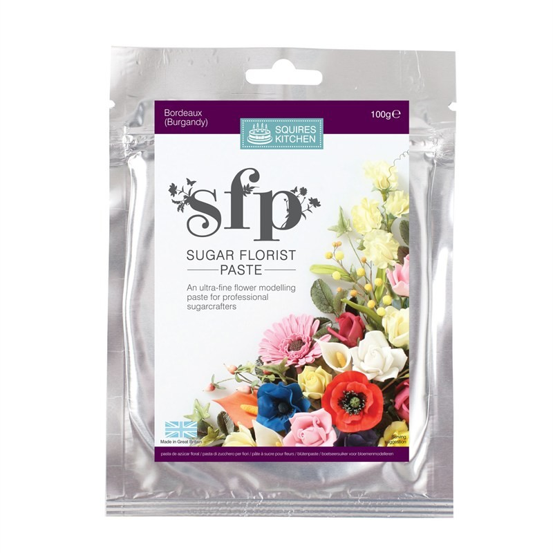 Squires Sugar Florist Paste (SFP) - Bordeaux (Burgundy) - 100g