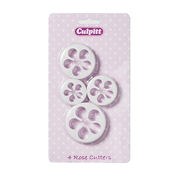 Culpitt Cookie Cutter Rose 4 Piece
