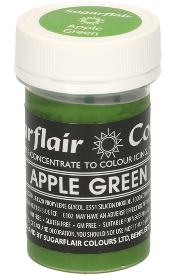 Sugarflair Green Paste Colours  25g