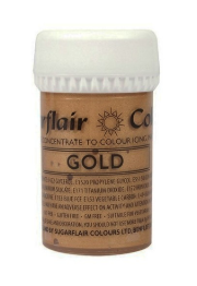 Sugarflair Silver, Guld Satin  Paste Colours  25g