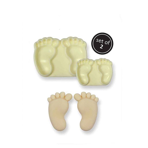 JEM Pop It Mould - Baby Feet - 2 Piece