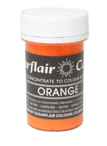 Sugarflair Orange Paste Colours  25g