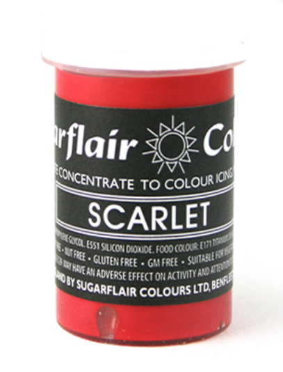 Sugarflair Red Paste Colours  25g
