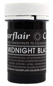 Sugarflair Black Paste Colour 25g