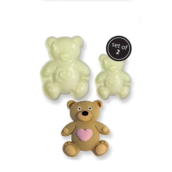 Pop It Mould - Teddy Bear - 2 Piece