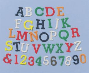 FMM Alphabet and Number Upper Case Tappit Set