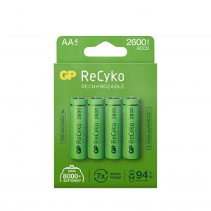 GP ReCyko AA battery, 2600mAh, 4-pack