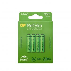 GP ReCyko AAA battery, 950mAh, 4-pack