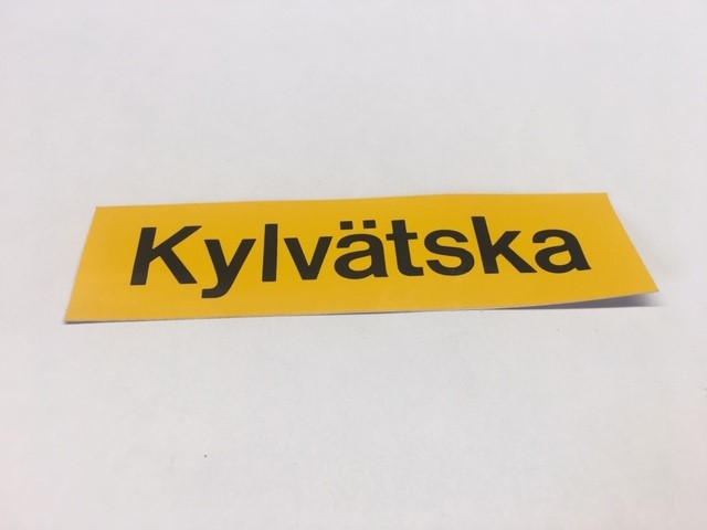 Sticker Kylvätska 30x115mm