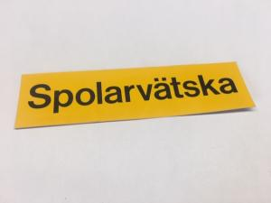 Sticker spolarvätska 30x115mm