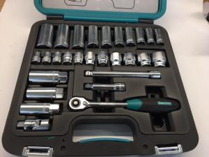 Socket set inch 3/8""