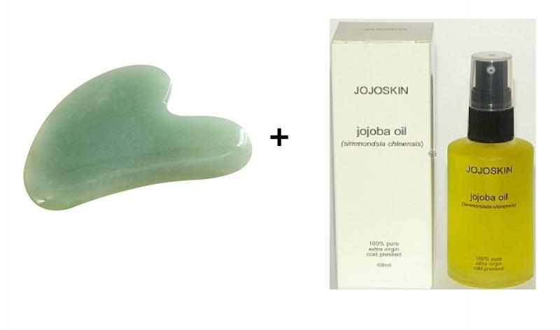Gua Sha - paket med Jojoskin och heartshape tool