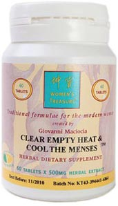 Clear Empty Heat and Cool The Menses