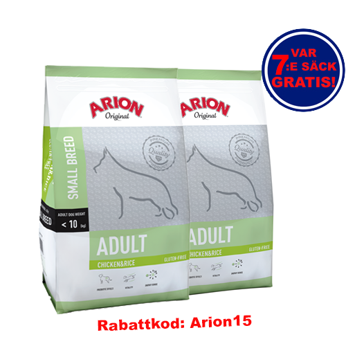 Adult Small Chicken & Rice Arion 7.5kg 2-pack!