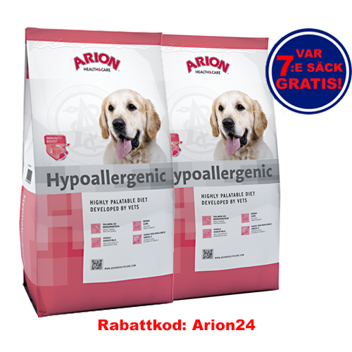 Hypoallergenic Arion Health & Care 12Kg 2-Pack!