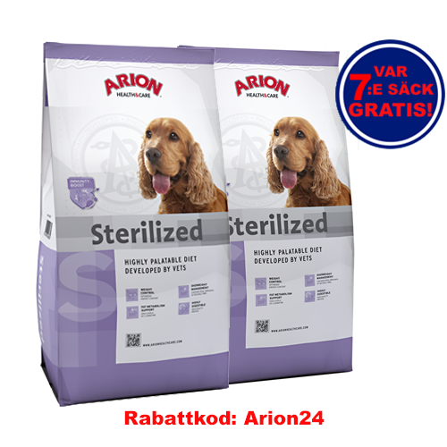 Sterilized Arion Health & Care 12kg 2-pack!
