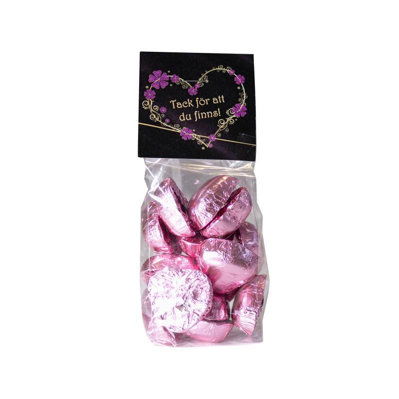Chokladhjärtan Rosa