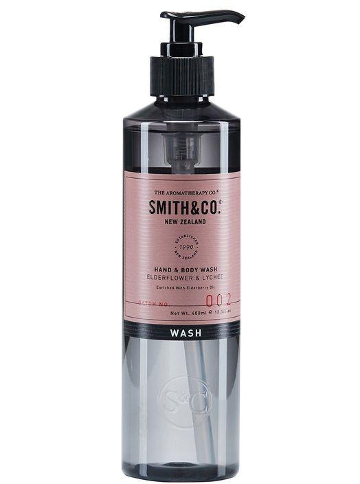 Smith & Co Hand & Body Wash 400ml Elderflower & Lychee