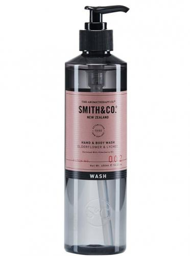 Smith & Co Hand & Body Wash 400ml Elderflower & Lychee