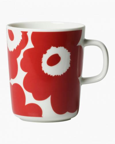Marimekko Mugg 2,5dl Pieni Unikko Red/White