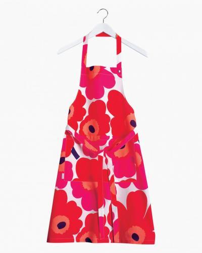 Marimekko Förkläde Unikko Röd