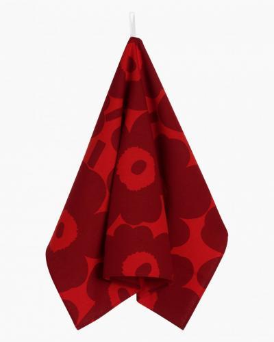 Marimekko Kökshandduk 2-Pack Pieni Unikko Red/Dark Red
