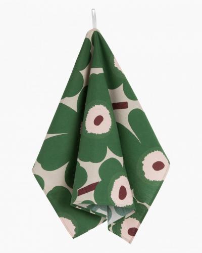 Marimekko Kökshandduk 2-pack Pieni Unikko Beige, Peach, Green