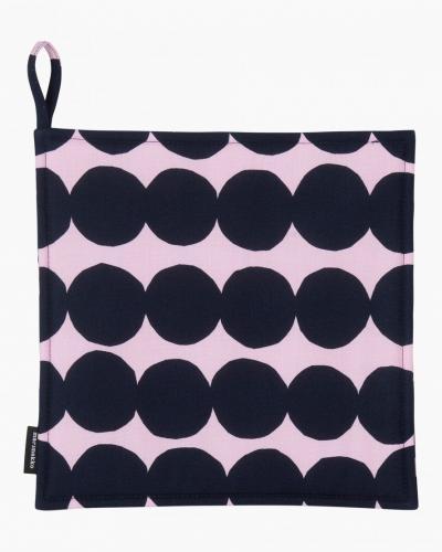 Marimekko Grytlapp Räsymatto pink darkblue