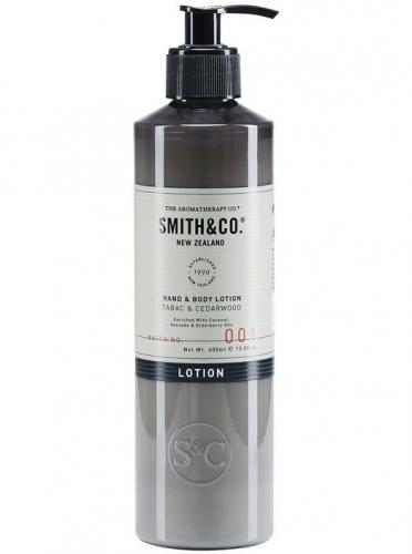 Smith & Co Hand & Body Lotion 400ml Tabac & Cedarwood