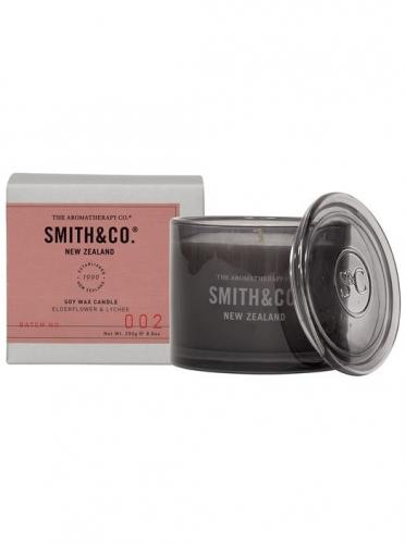 Smith & Co Scented Candle 50tim Elderflower & Lychee