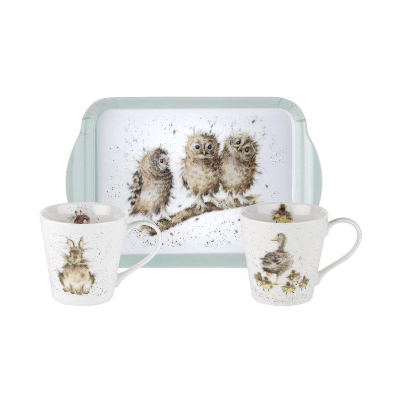 Wrendale Mug & Tray Set