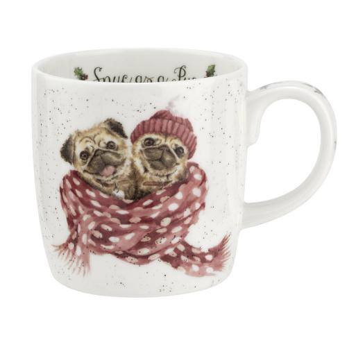 Wrendale Snug as a Pug mugg