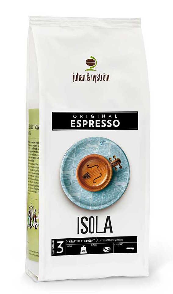 Espresso Isola 500g Förpackning