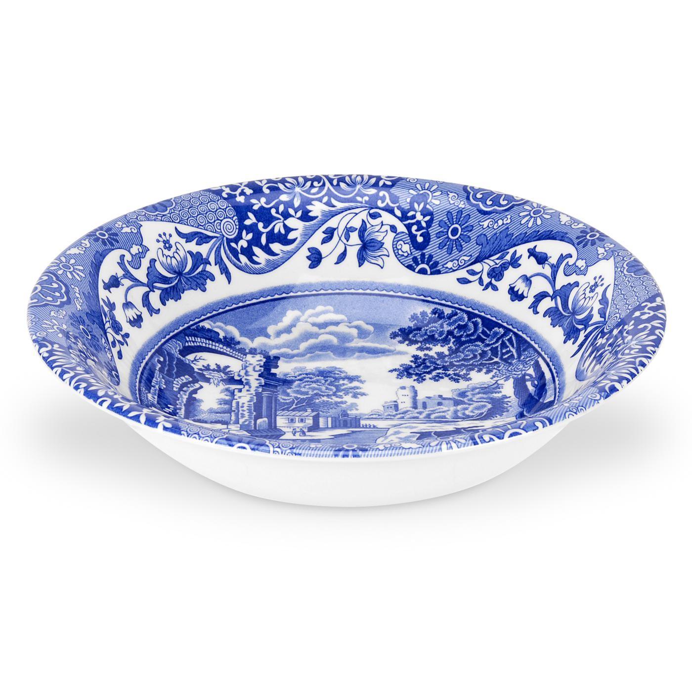Spode Blue Italian Djup Tallrik 15 cm Blå