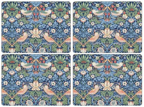 Bordsunderlägg william morris strawberry thief blå