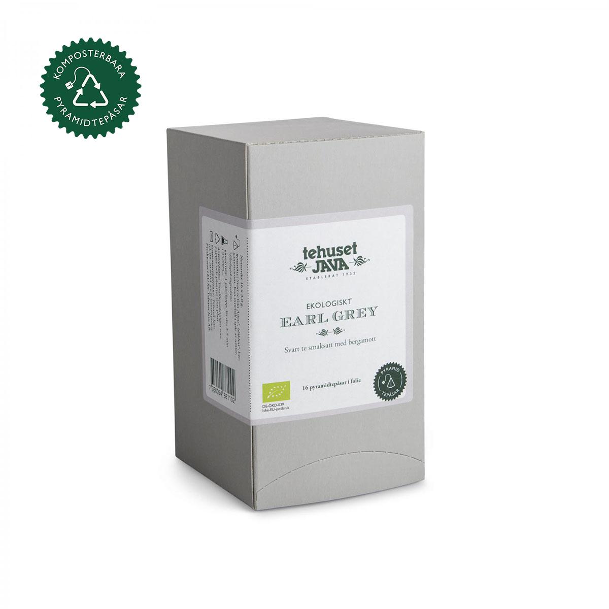Ekologisk Earl Grey 16 pack Tepåsar i folie