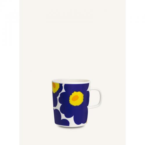 Marimekko unnikko blomma blå gul