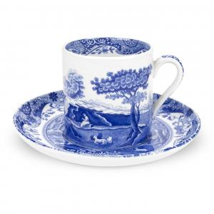 Spode Blue Italian Kaffekopp m Fat 90ml