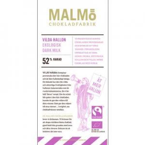 Malmö Chokladfabrik Friska Hallon 52% EKO fairtrade