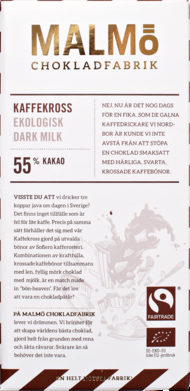 Malmö Chokladfabrik Kaffekross 55% EKO fairtrade