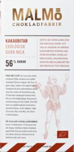 Malmö Chokladfabrik Kakaobitar 56% EKO