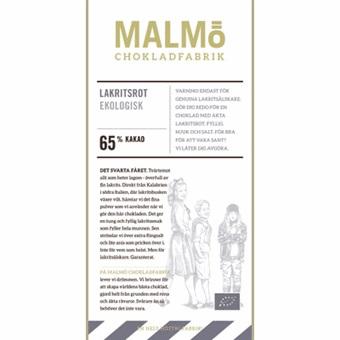 Malmö Chokladfabrik Lakritsrot 65% EKO