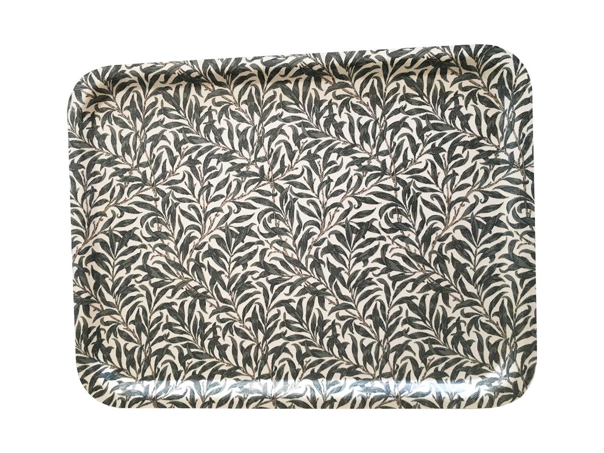 tehuset java bricka bladverk grå